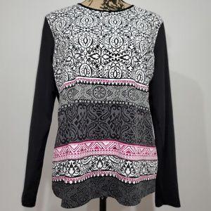 Lands End BOHO pattern blouse